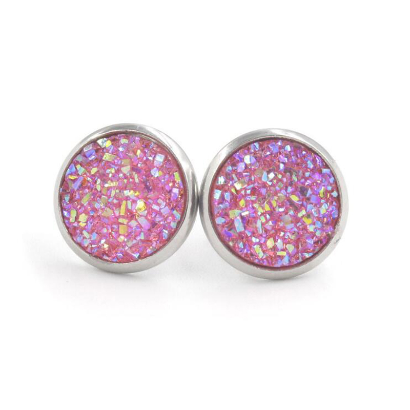 H2d2be10fba6f4ee5adbc51ca87db781bp - Fnixtar 12mm 100% Stainless Steel Shinning Resin Stud Earring for Women Top Quality Fashion Earrings Party Ear Jewelry