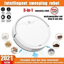 Robot aspirador multifuncional para el hogar, Control inteligente por aplicación remota, 2021 Pa, inalámbrico, en seco y húmedo, novedad de 2000
