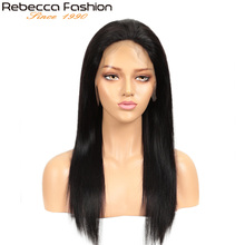 цены Rebecca Fashion Human Hair 13*4 Lace Wig  8 To 28 Inch Straight Human Hair Wig By Remy Hair 13X4 Lace Front