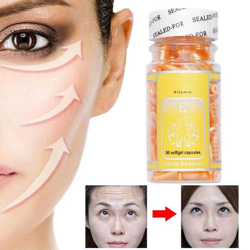 90pcs/bottle Capsules Serum Vitamin E Spot Acne Removing VE Facial Freckle Capsule Whitening Cream