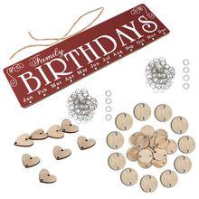 Дерево Адвент календари береза табличка знак день рождения доска напоминаний DIY настенный календарь метка даты рождественские украшения