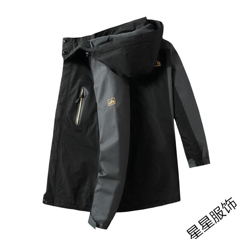 10xl 8xl Куртки мужские осень Утепленная Мужская s теплая куртка ветрозащитное пальто с капюшоном на молнии куртки мужские худи