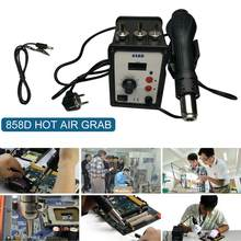 Hot Air Gun LCD Digital display Heat Gun Repair Tools Dual-use Soldering Station Rework Station embosseur à chaud термоусадка(China)