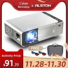 ALSTON T6 vidéoprojecteur full hd led 4k 3500 Lumens HDMI USB 1080p projecteur de cinéma portable avec cadeau mystérieux