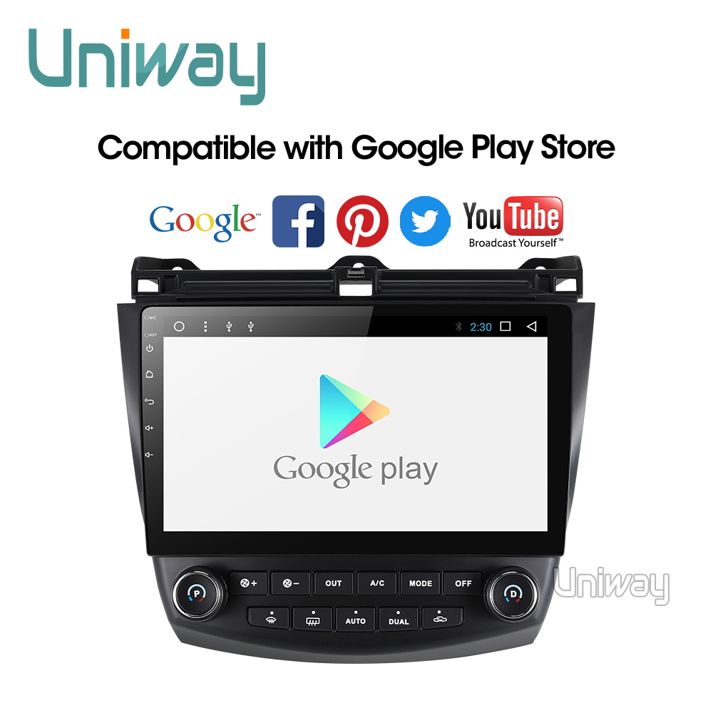 Uniway AYG1071 2G+32G android 9.0 car dvd for <font><b>Honda</b></font> <font><b>Accord</b></font> <font><b>7</b></font> 2003 2004 2005 2006 2007 car radio video player gps navigation car image