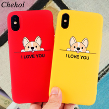 Corgi Phone Cases for IPhone 11 6s 7 8 Plus Pro X XS MAX XR Fashion Case Cute Dog Soft Silicone Fitted Back Cover Accessories