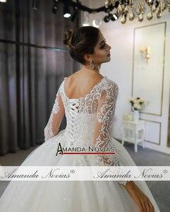 Image 5 - Vestidos de novias spitze kleid elegante neue hochzeit kleid schöne echt arbeit gleiche wie auf foto