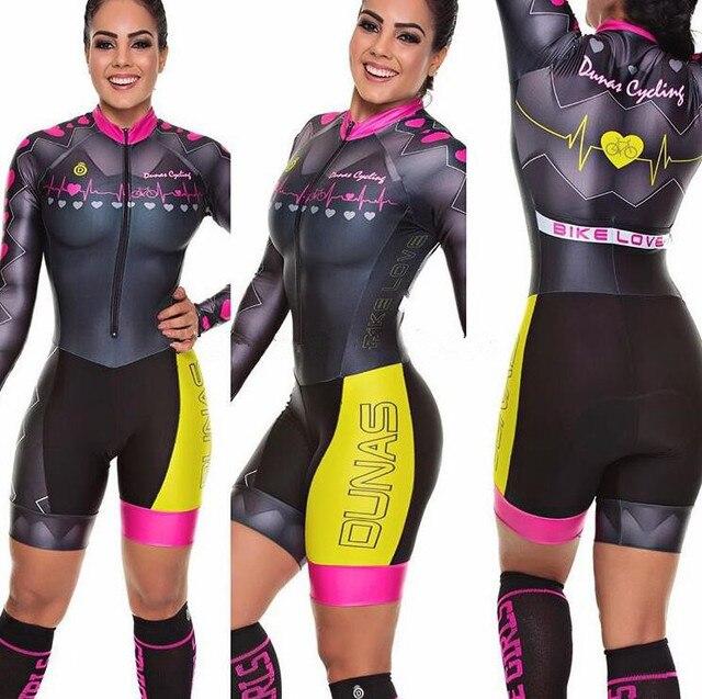 2020 pro equipe triathlon terno feminino camisa de ciclismo skinsuit macacão maillot ciclismo ropa ciclismo conjunto manga longa almofada gel 024 1