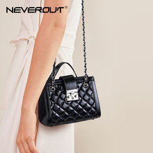NEVEROUT Small Shoulder Bags for Women 2019 Split Leather Crossbody Flap Bag Girls Handbag Ladies Brand Name Black