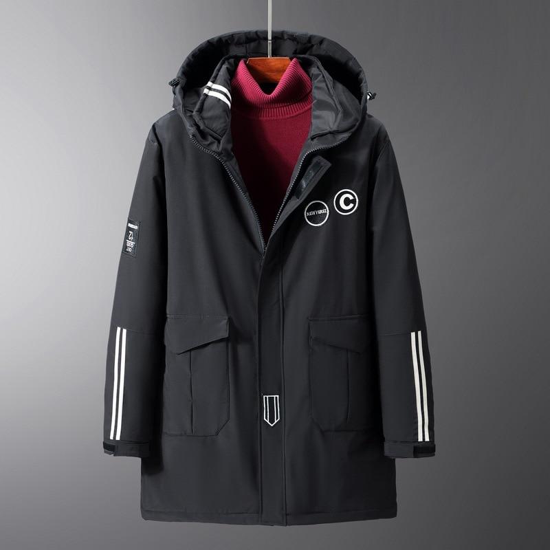 200KG Can Wear Plus Size Winter Jacket Parka Man Women 9XL 10XL Thick Warm Loose Hooded Parkas Long Coat Black Winter OverCoat