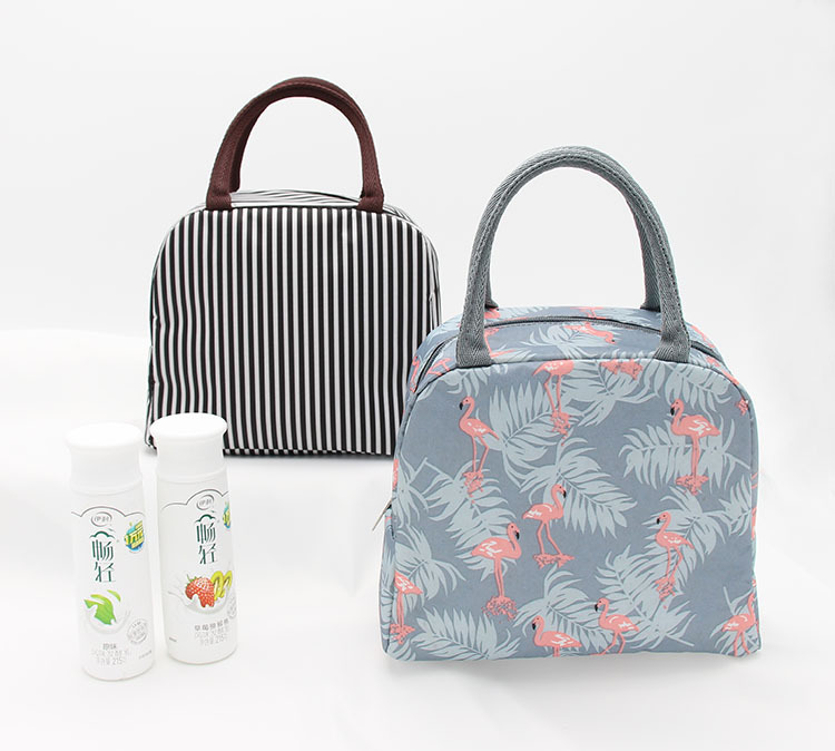 Functional Pattern  Lunch Box Portable Insulated Canvas Lunch Bag Thermal Food Picnic Lunch Bags For Women Kids  Cute Lunch Bag