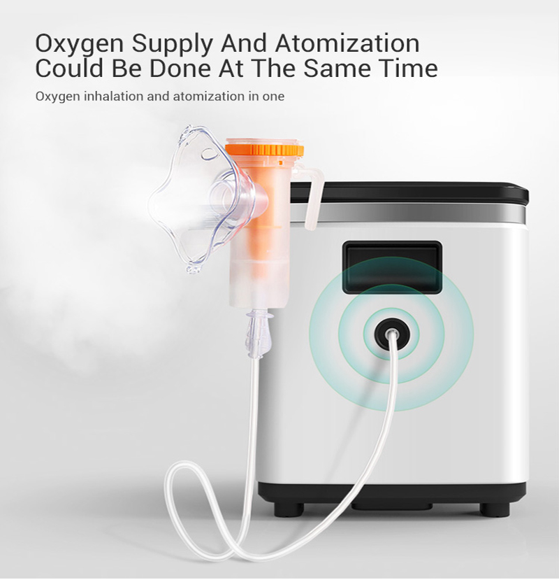 in stock 7L 90% High concentration de oxigeno Oxygen concentrator atomization Portable Medical equipment Home oxygen bar LCD