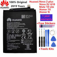 Hua Wei original Echt 3340mAh HB356687ECW Für Huawei Nova 2 plus/Nova 2i/G10/Mate 10 lite/Honor 7x/Honor 9i Batterien + Werkzeuge