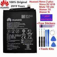 Hua Wei originale Reale 3340mAh HB356687ECW Per Huawei Nova 2 plus/Nova 2i/G10/Compagno di 10 lite/Honor 7x/Honor 9i Batterie + Strumenti
