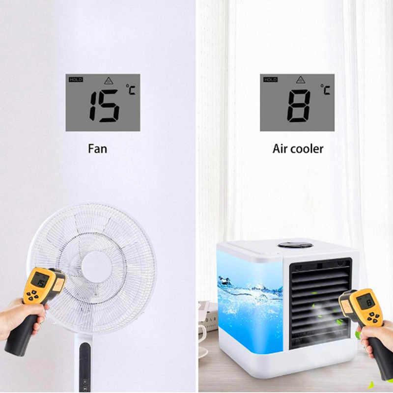 LED مرطب هواء صغير غرفة التبريد ، مكيف الهواء القطب الشمالي الهواء الشخصية الفضاء برودة ، مروحة مكتب المحمولة تكييف الهواء الصغيرة