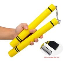 Esponja nunchakus esponja esportes formação prática corrente seguro nunchucks artes marciais equipamentos para crianças adultos fornecimento de fitness