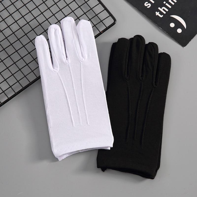 Black White Color Manner Short Gloves For Men Women High Quality Cotton Bike Wasit Gloves Mittins Drive Car Gloves Bicycling