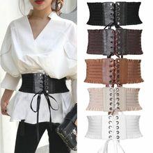Goocheer 2019 Women Ladies Fashion Stretch Belt Tassels Elastic Buckle Wide Dress Corset Waistband