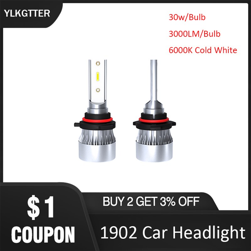 YLKGTTER 6000K High Temperature H1 <font><b>H7</b></font> H11/H8/H9 9005/HB3/H10 9006/HB4 H4/HB2/9003 LED Car Headlight 20W <font><b>2000Lm</b></font> 2Bulbs INSIDE image
