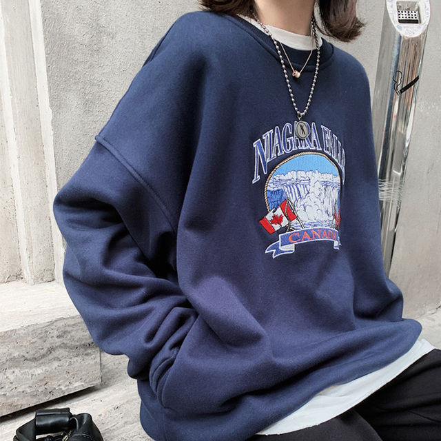 NANCY TINO Spring and Autumn Fashion Ladies Soft Thick Pullover Loose Polyester Long Sleeve Hoodie 6