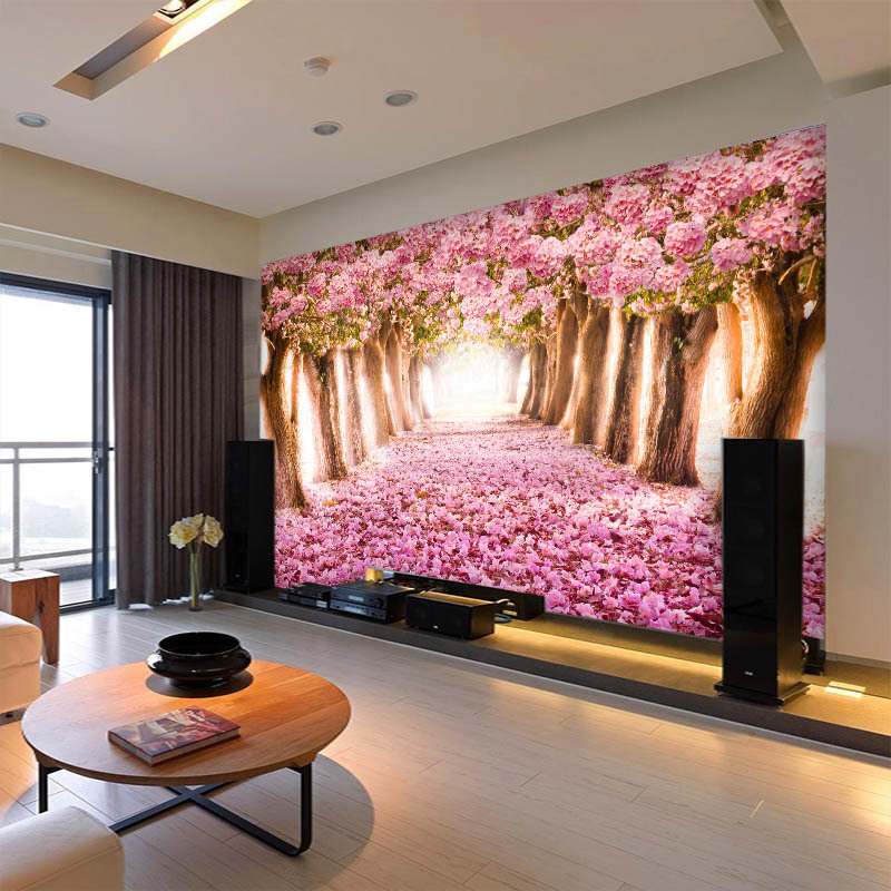 TV Backdrop Cloth Bedroom Living Room Wallpaper 3D Wallpaper Seamless Forest Trees Stereo Scenery Wallpaper