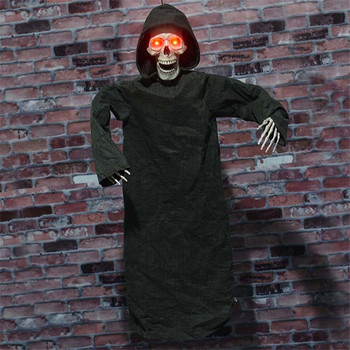 Halloween Party Decor Horror Props Halloween Decorations for Home Hanging Electric Ghost with Skull Head Creepy Eyes Sacay Voice