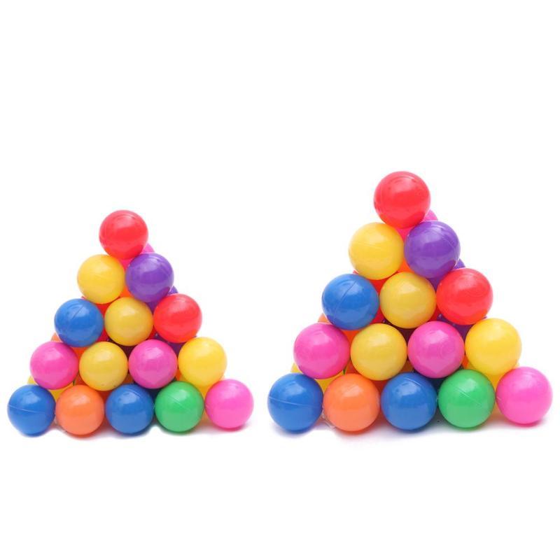 100 pièces 8cm 7cm bébé océan balle jouets coloré amusement en plastique souple piscine jouet bain douche accessoires bébé enfants cadeaux