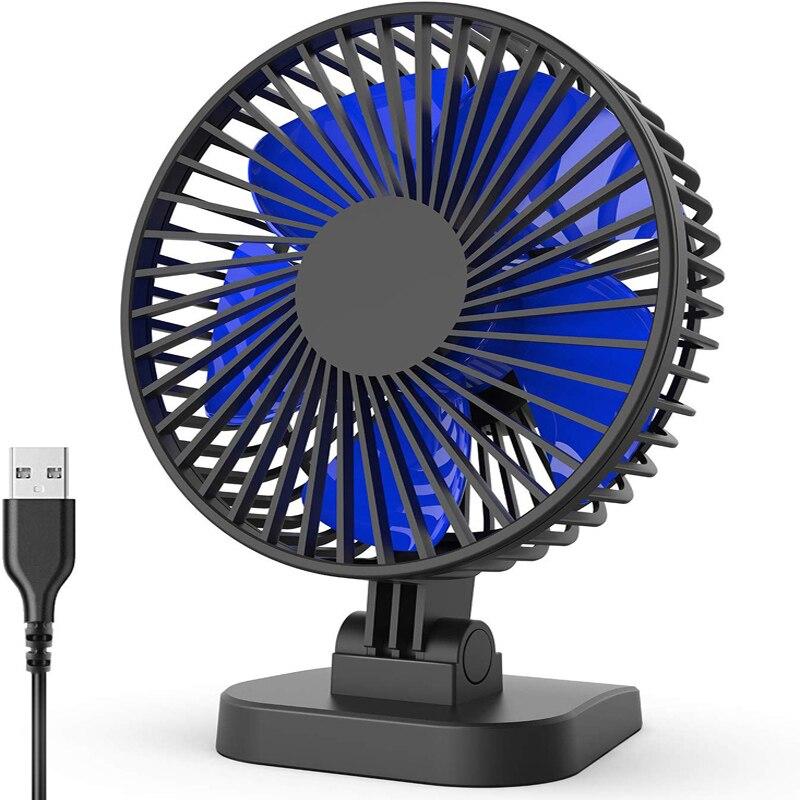 USB Настольный вентилятор, маленький, но мощный, тихий портативный вентилятор для настольного офисного стола, регулировка 40 ° для лучшего охлаждения, 3 скорости, шнур|USB-гаджеты|   | АлиЭкспресс