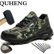 Safety-Shoes QUHENG Mens Puncture-Proof Construction Steel-Toe New-Design Casual Anti-Static