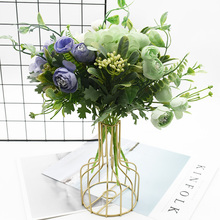 10 bundles Bouquet of roses Artificial flowers Home decoration accessories Wedding Holiday