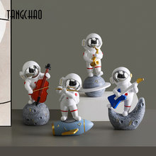 TANGCHAO Home Decoration Accessories Nordic Resin Astronaut Figurines Furnishing Crafts Cosmonaut Statues Gift For Birthday