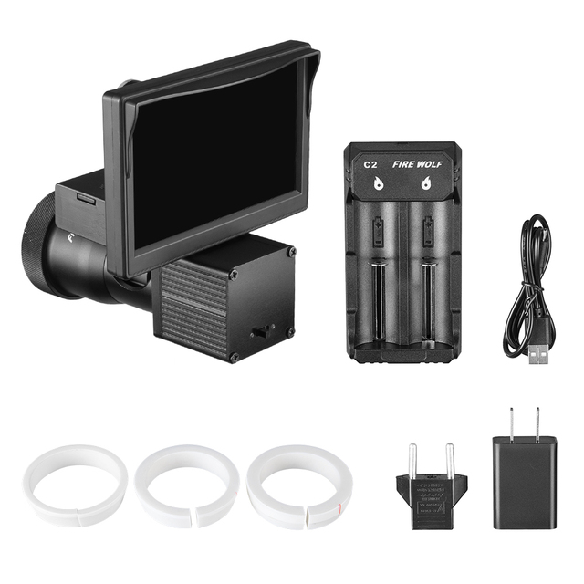Fire Wolf Night Vision HD 1080P 4.3 Inch Display Siamese Scope Video Cameras Infrared illuminator Riflescope Hunting Optical 6
