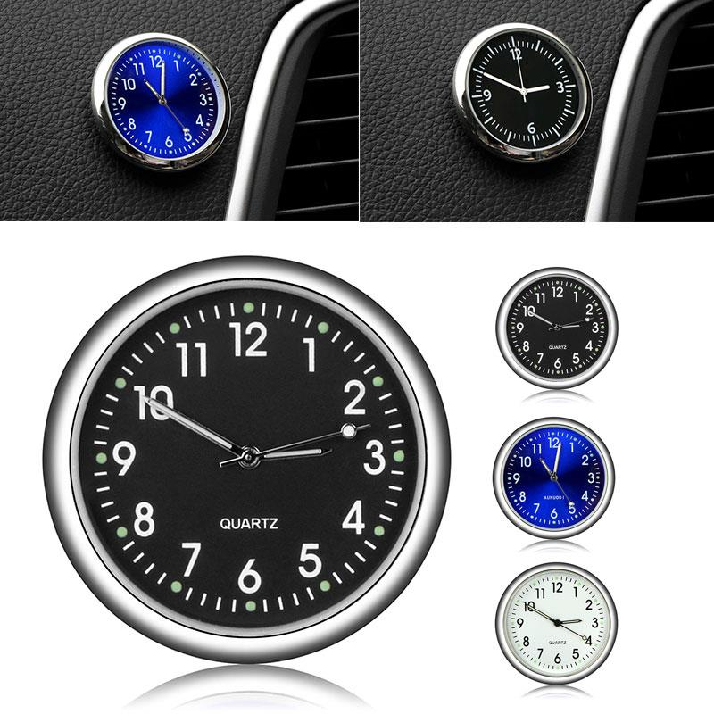 Vehemo 4 Color Car Timepiece Motorbike Automobiles Clock Dashboard Car Clock for Metal Decoration Luminous for Accessories