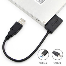 USB 3.0/2.0 To Sata II 7+6 Adapter Support Laptop CD/DVD ROM Slimline Drive 13 Pin Sata II Cable Sata USB Cable ConnectFit