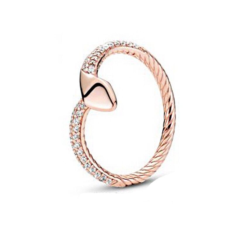 Bague en argent Sterling 925 pour femmes, bague serpent scintillante, bijoux d'anniversaire de fiançailles, Original, cadeau, nouvelle collection d'automne 2020