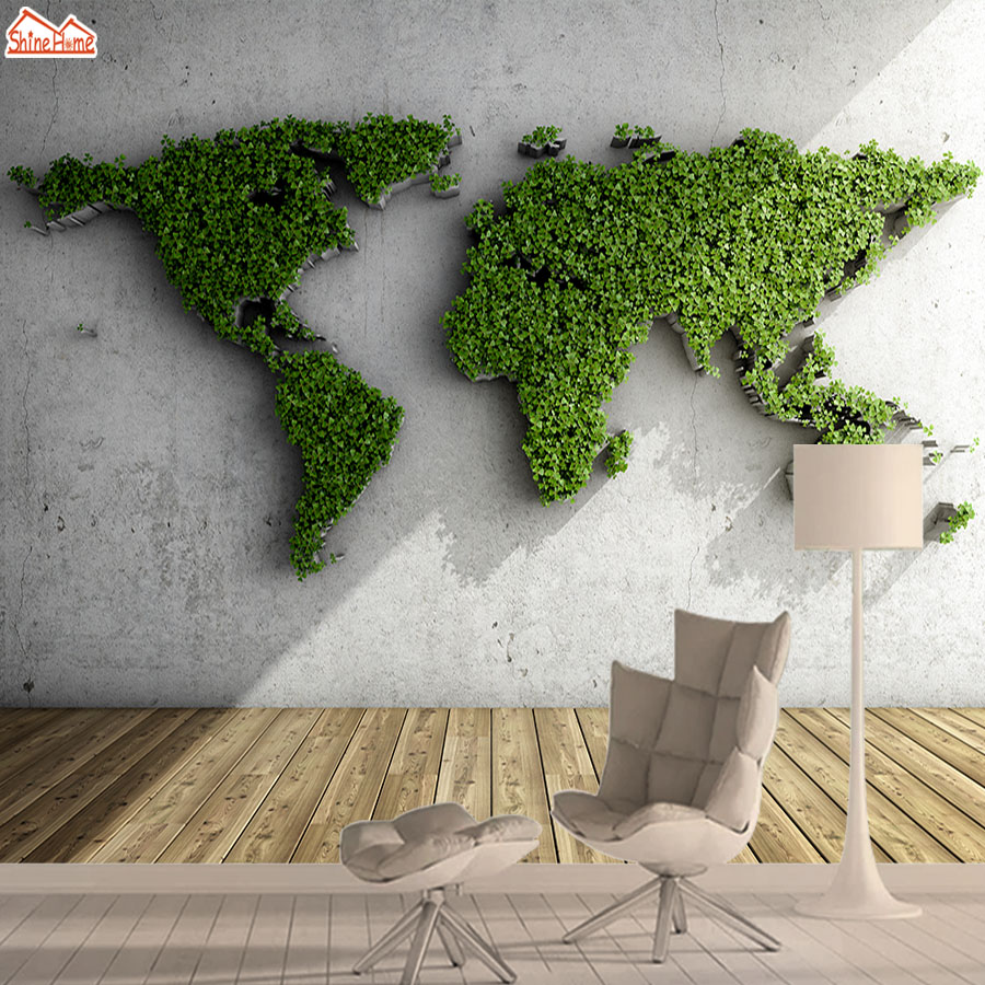 Contact Paper 3d World Map Wallpaper Wallpapers For Living Room Mural Wall Paper Papers Home Decor Vinyl Adhesive Murals Rolls