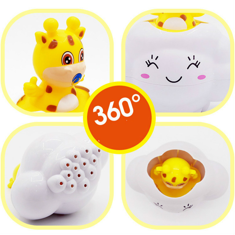 0 1 2 years Baby Bath toy Cute Deer Pig Toy Bathroom Rain Cloud Playing Water Shower Kids Funny Toys Birthday Gift for Children in Bath Toy from Toys Hobbies