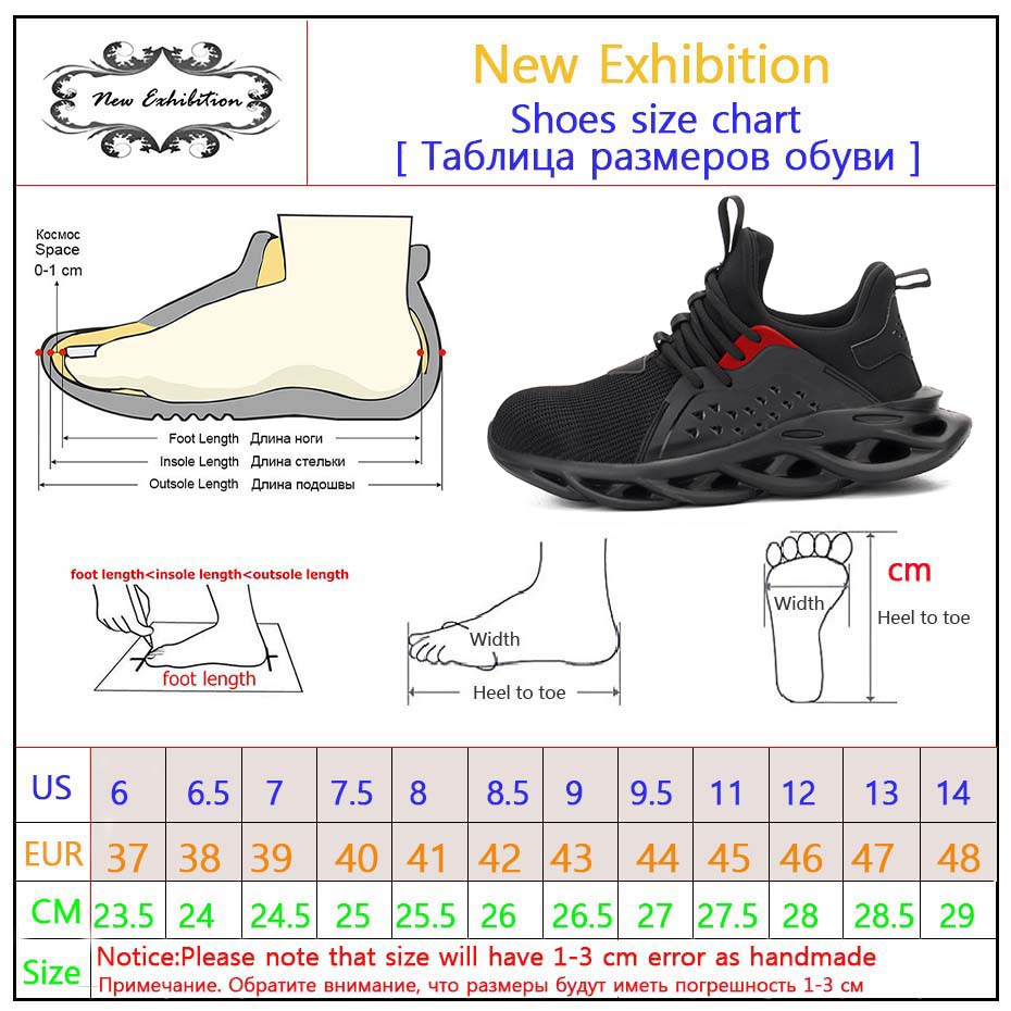 Work-Safety-Shoes Protective-Indestructible Steel Fashion New Toe-Cap Exhibition Plus-Size