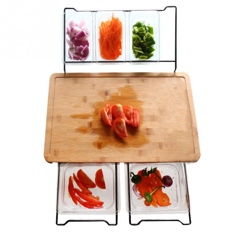 Vegetable Kitchen Cutting Board With Storage Box Smooth Multifunction Practical Fruit Bamboo Food Storage(China)