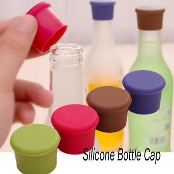 1pcs Silicone Wine Stopper Leak Free Wine Bottle Cap Fresh Keeping Sealers Beer Beverage Reusable Wine Beer Cover For Bar Tools image