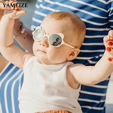 Kids Sunglasses Eyewear Baby Shades Retro Girls Round UV400 YAMEIZE Oculos Bear-Shaped