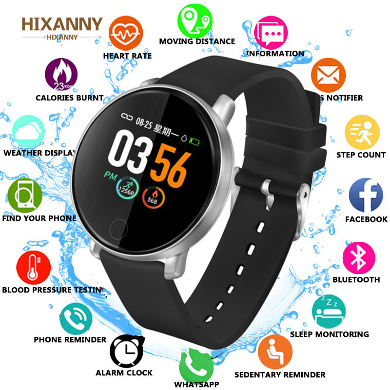 TOP Smart Watch Men Women Fitness Tracker Heart Rate Monitor Smart Bracelet Blood Pressure Pedometer For Android IOS Smartwatch in Smart Watches from Consumer Electronics
