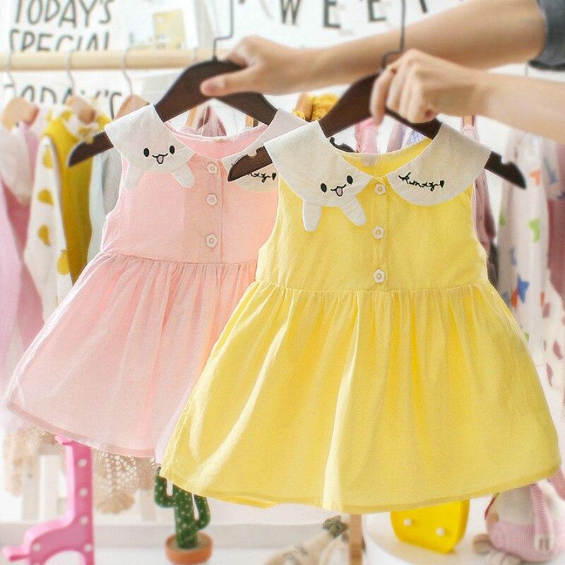 Bébé fille robes Style occidental infantile robe de princesse col de lapin mignon enfant en bas âge robe pour 3 6 9 12 24 mois 2 3 ans
