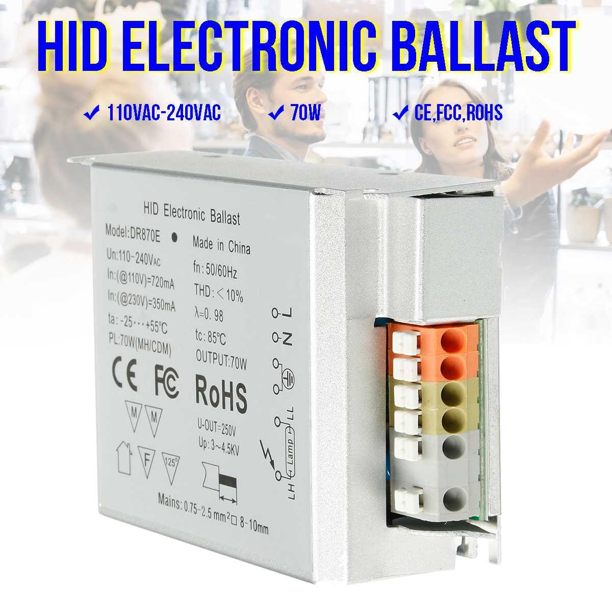 110-240V Input Voltage For 70W Electronic Ballast For Repitle UVB Metal Hanlide  Bulb