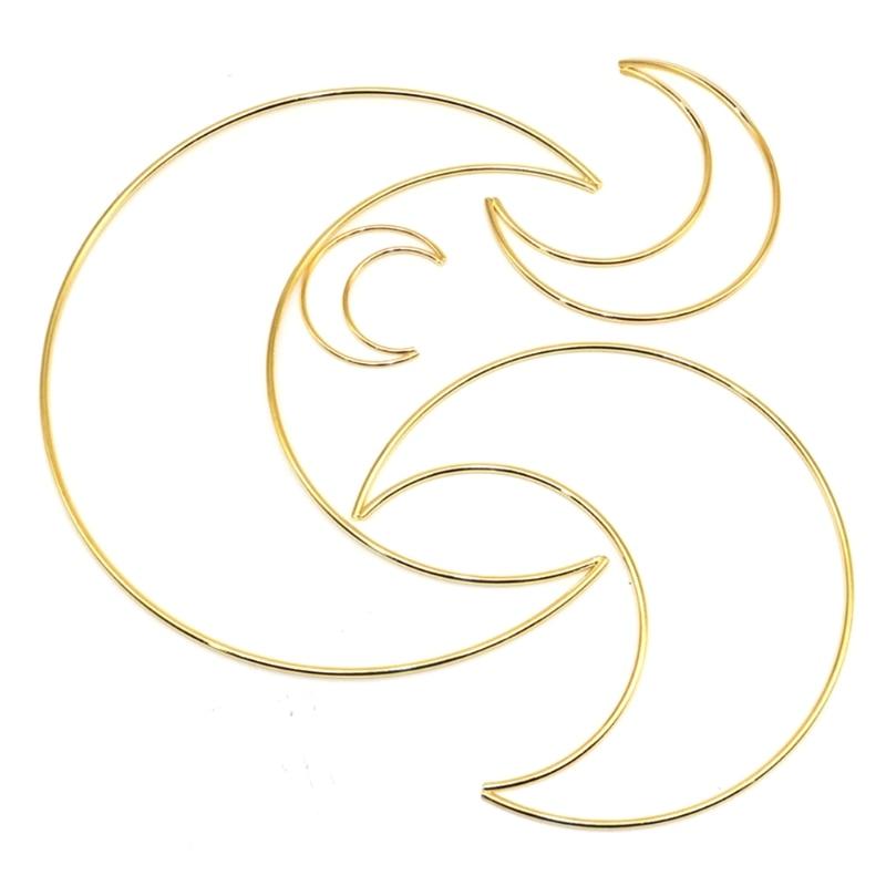 Cratone Gold Metal Ring Metal Hoop Diameter 10 cm Handmade Accessory for Wreath Macrame Dream Catcher Floral Hoops DIY Wedding Decor