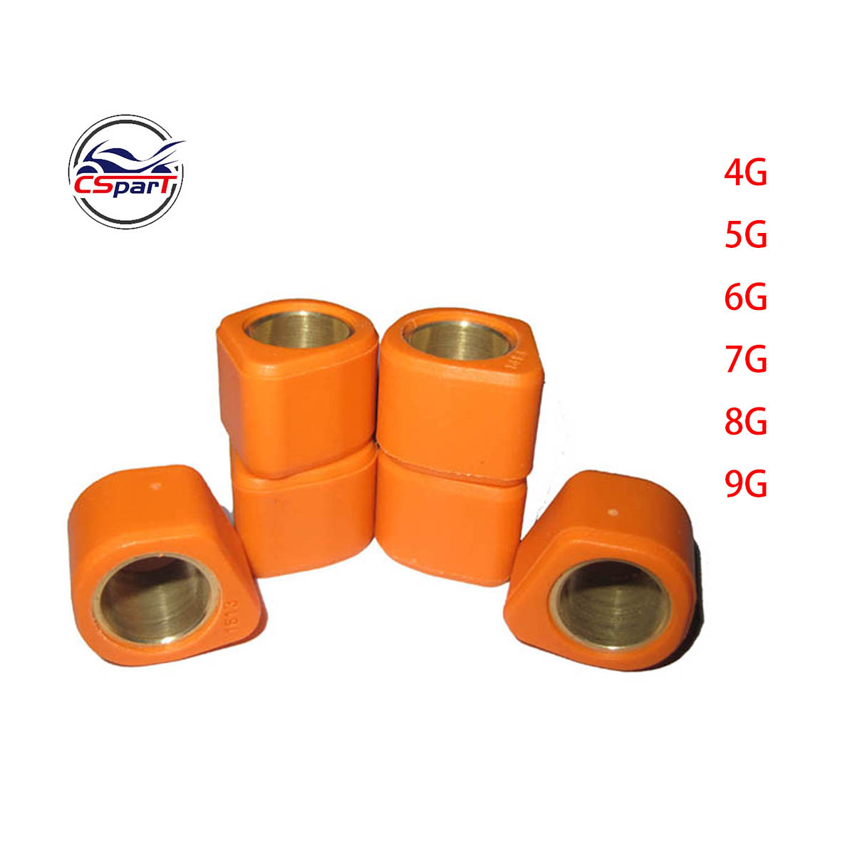 16x13 4G 5G 6G 7G 8G 9G Performance Variator Rollers For GY6 50 50CC  139QMB Scooter DIO Lead  100 110 SCV100 SH50 SKY 50