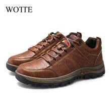 Wotte мужская кожаная повседневная обувь новая обувь; Модная