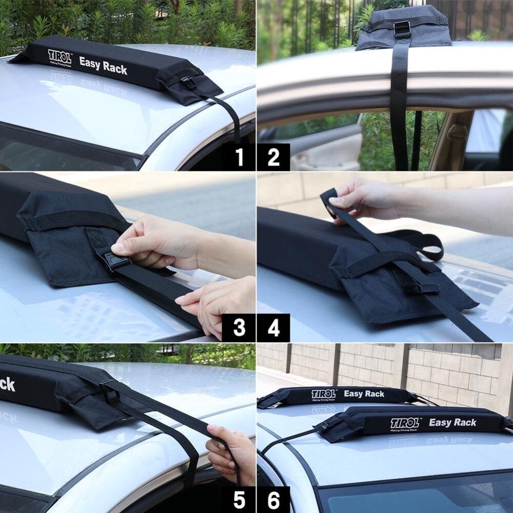 Tirol T15414b Высокое качество авто мягкий багажник на крышу автомобиля 2 шт./компл. Перевозчик Чемодан easy Rack нагрузки 60kgs багажные принадлежности