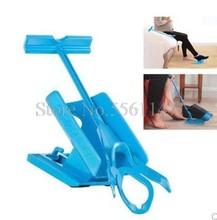 Kit de ajuda para meias, 1 peça de meia deslizante azul, ajuda a colocar meias, sem desligamento, sapato de dobra, buzina adequado para meias suporte de braçadeira para pés