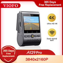 4K видеорегистратор VIOFO A129 Pro DVR Ultra HD 4K Автомобильный видеорегистратор Sony 8MP сенсор GPS Wi-Fi режим парковки g-сенсор супер камера ночного видения